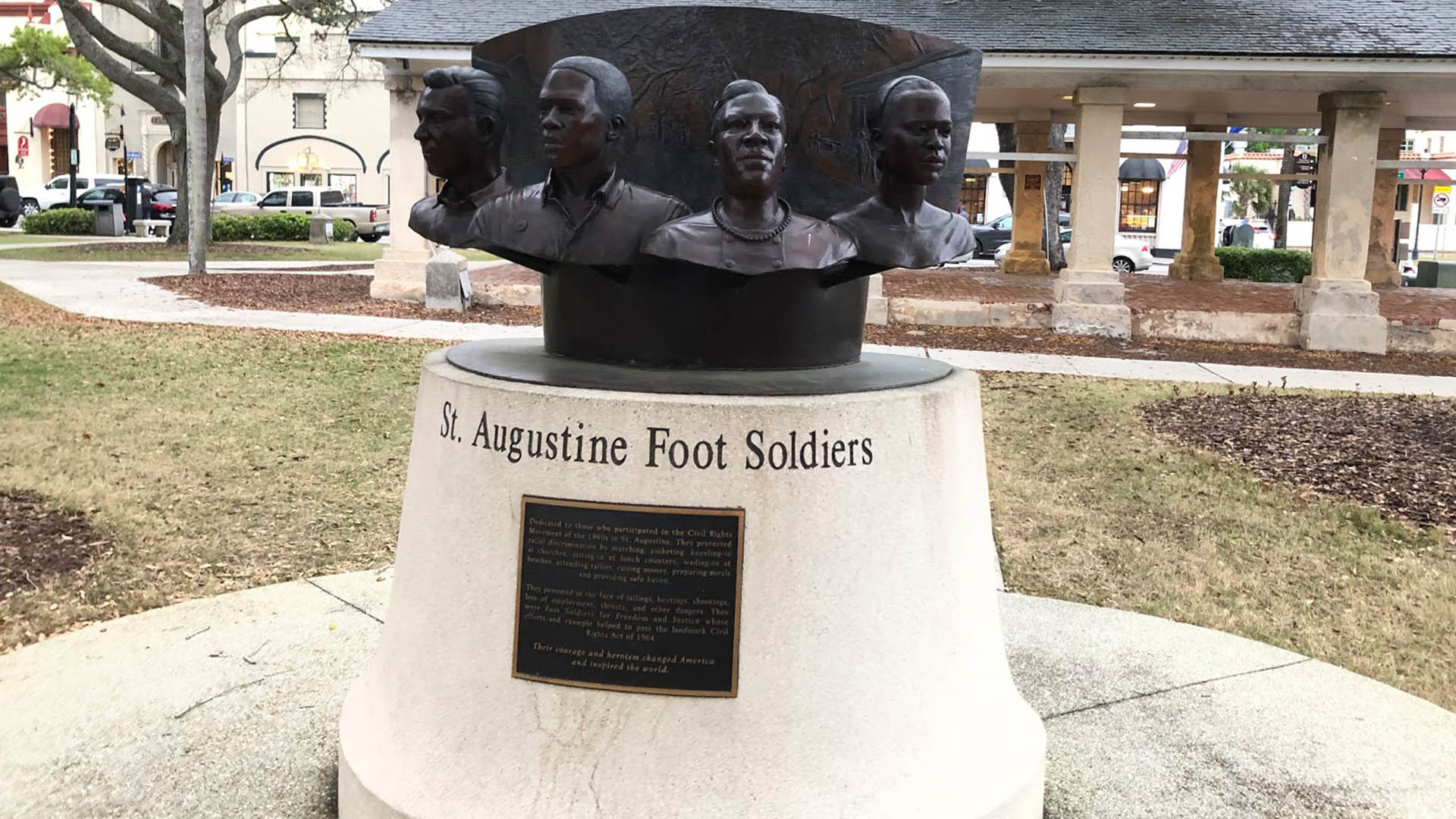 A monument to African American foot soldiers in St. Augustine, FL.