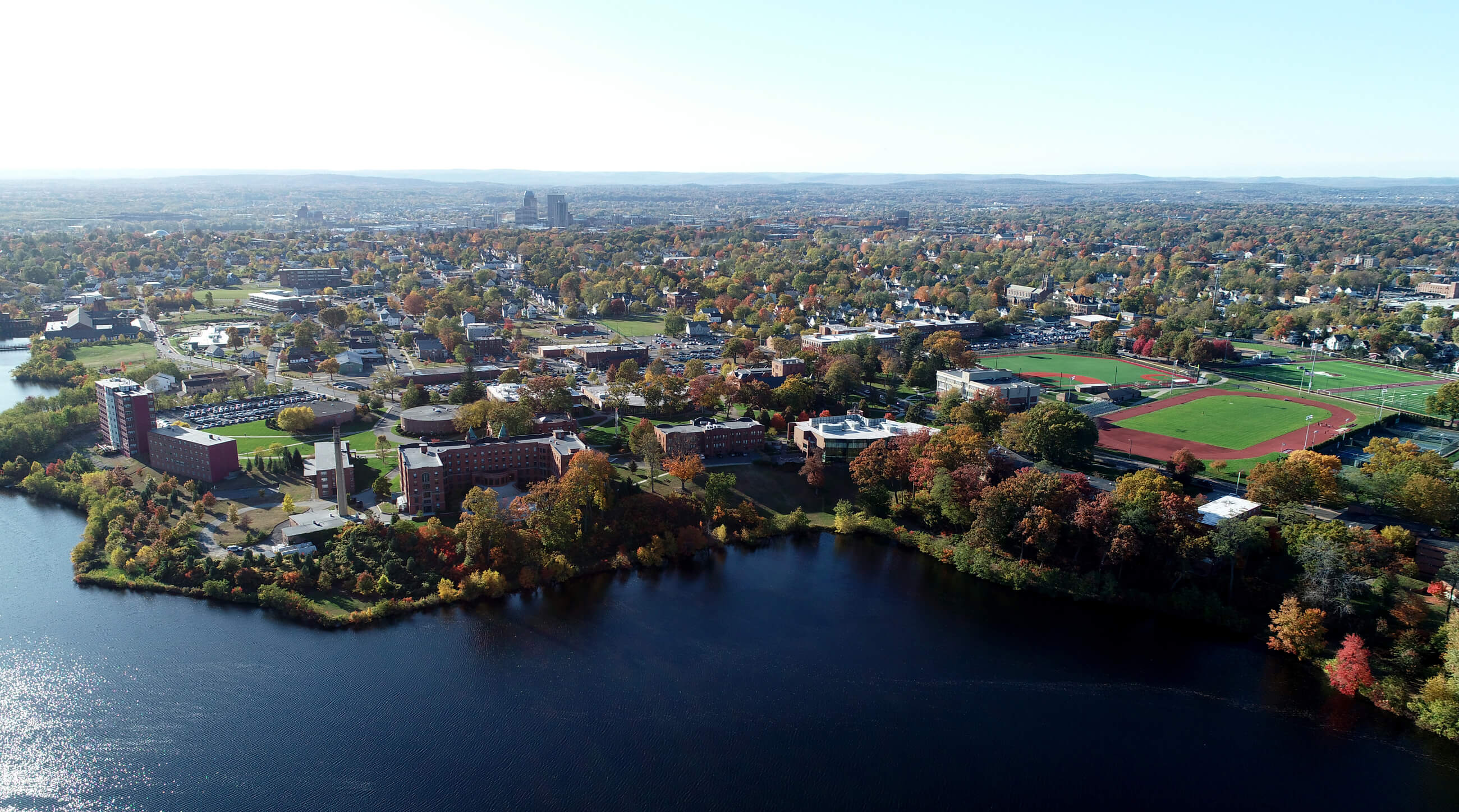 Aerial view of Springfield College