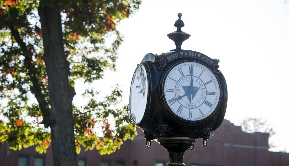 Clock on the Springfield College green