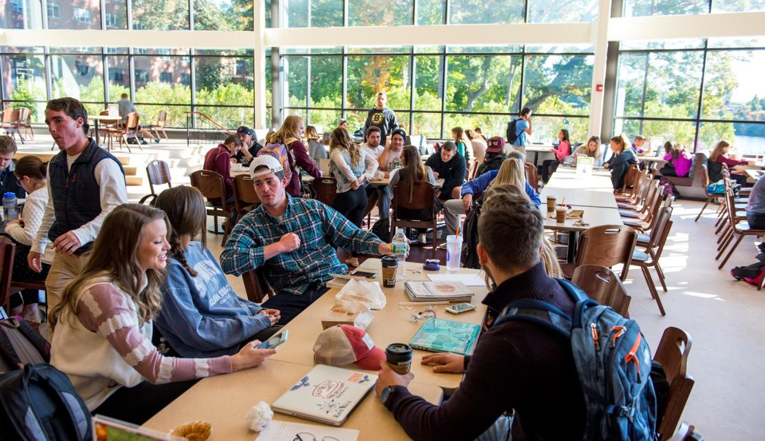 Students in the campus union