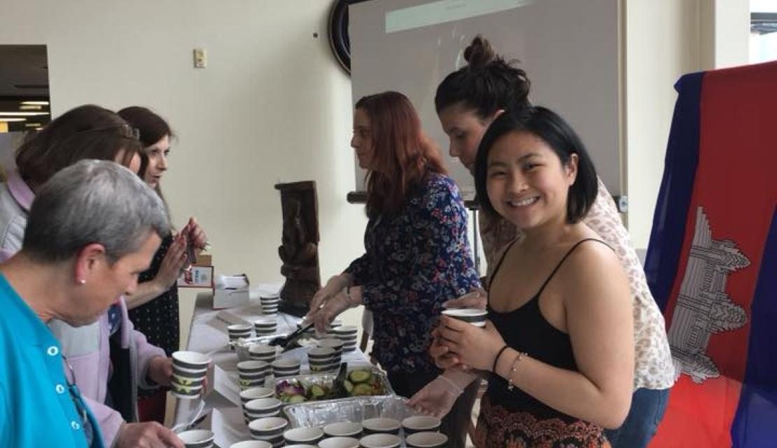 Students host a Taste of Cambodia pop up event