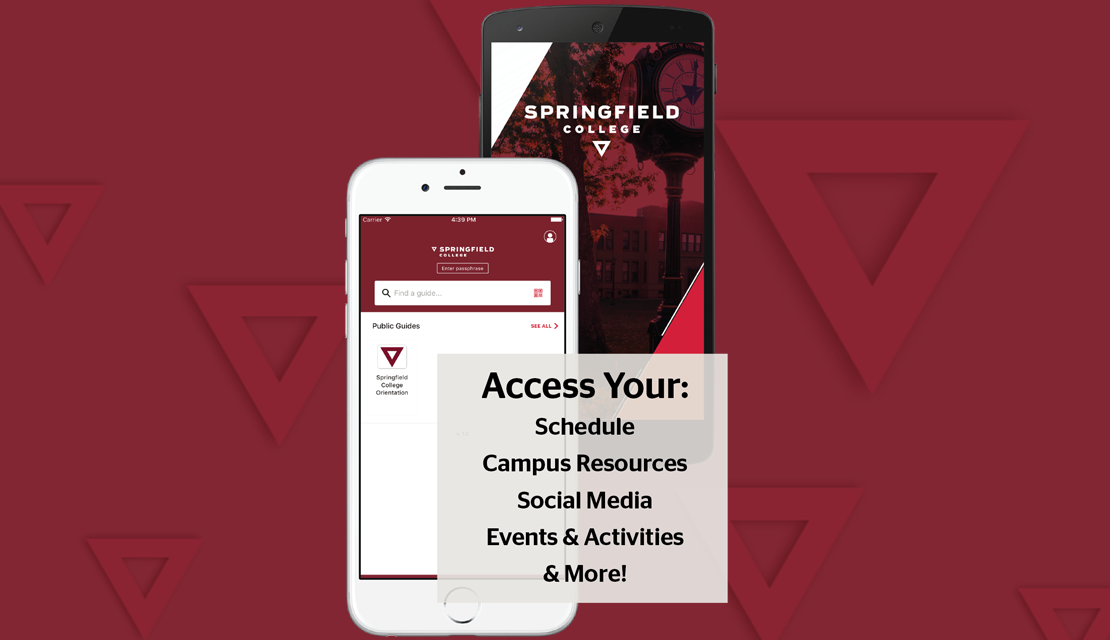 Access your: schedule, campus resources, social media, events & activities, and more