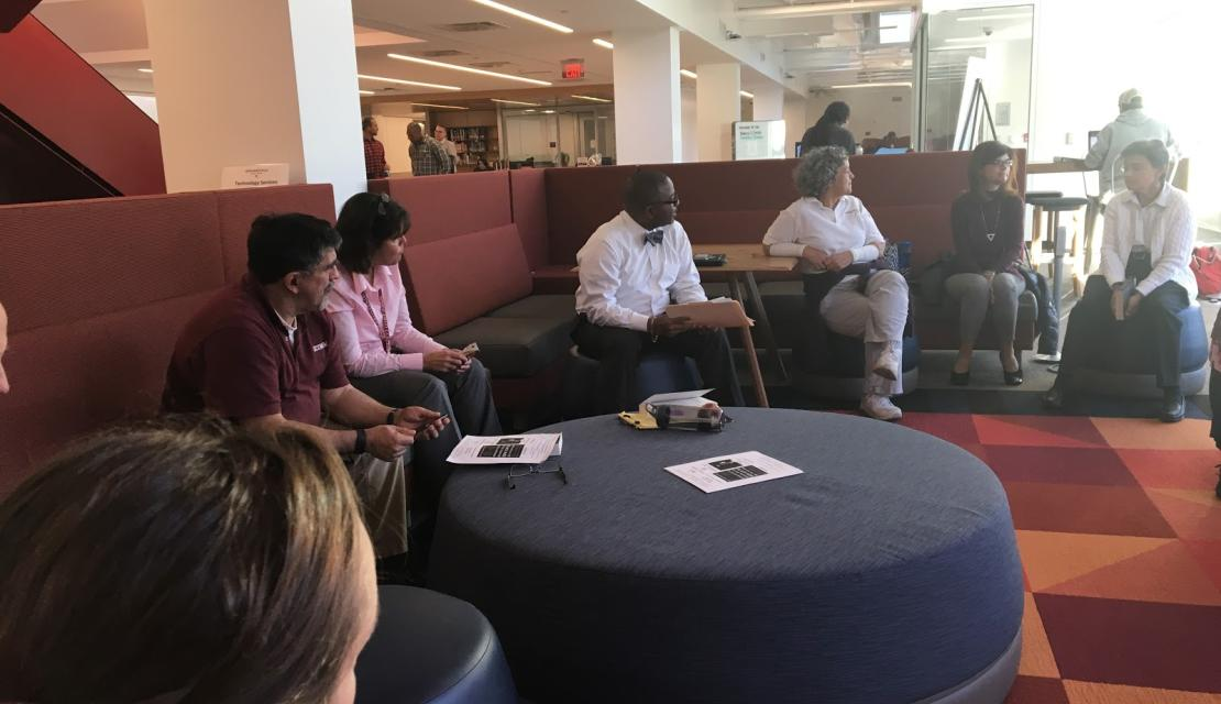 Springfield College employees participate in a book discussion