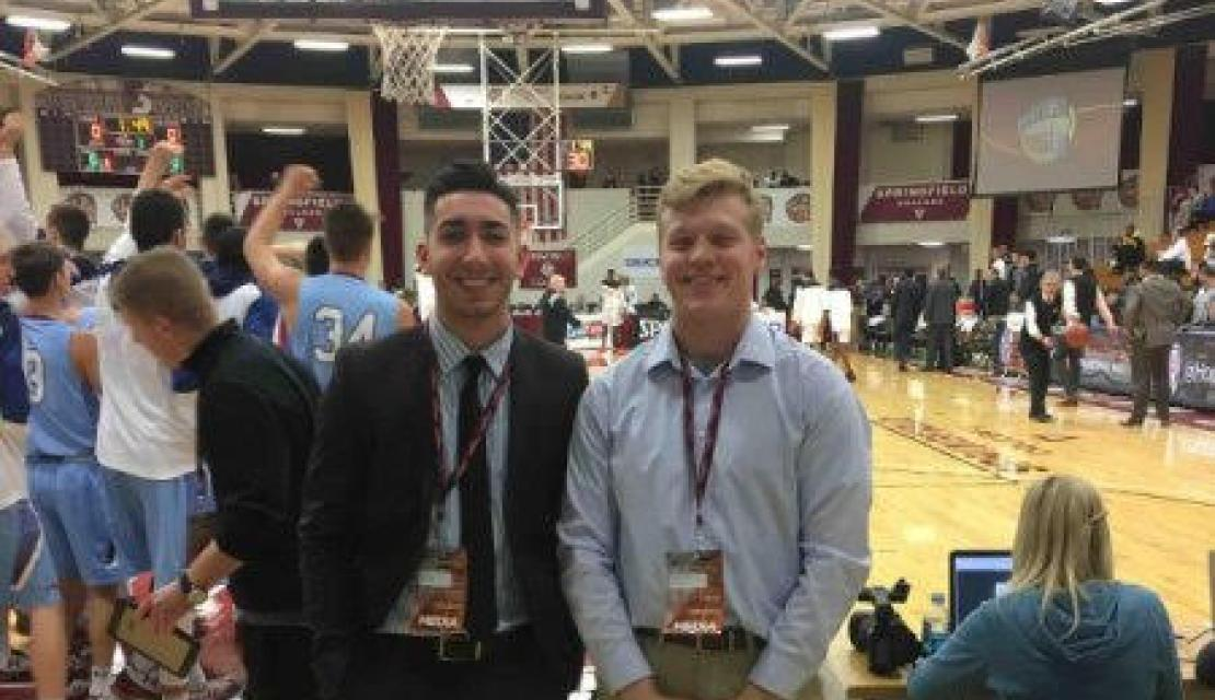 Gage taking advantage of the Sport Journalism Program at Springfield College
