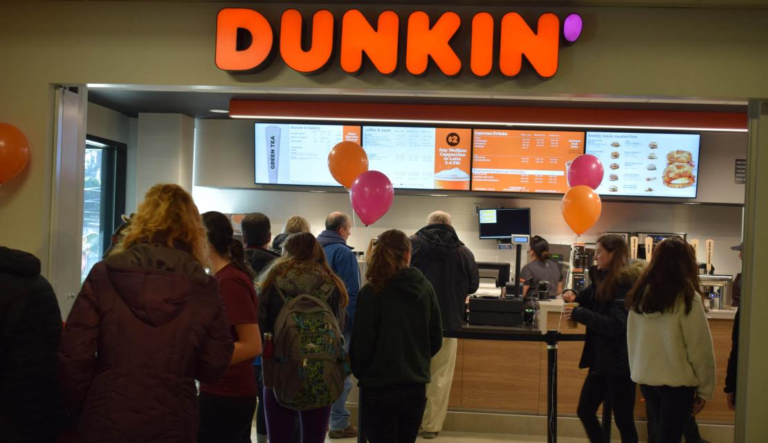 Dunkin at Union on Springfield College campus.