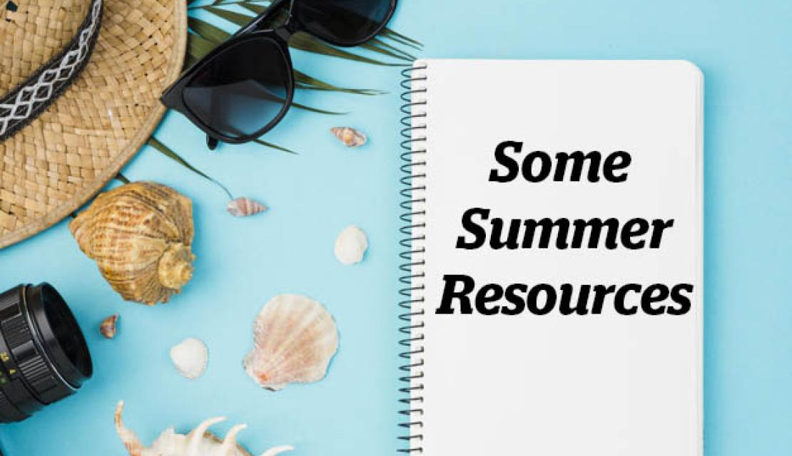 Summer resources in a notebook