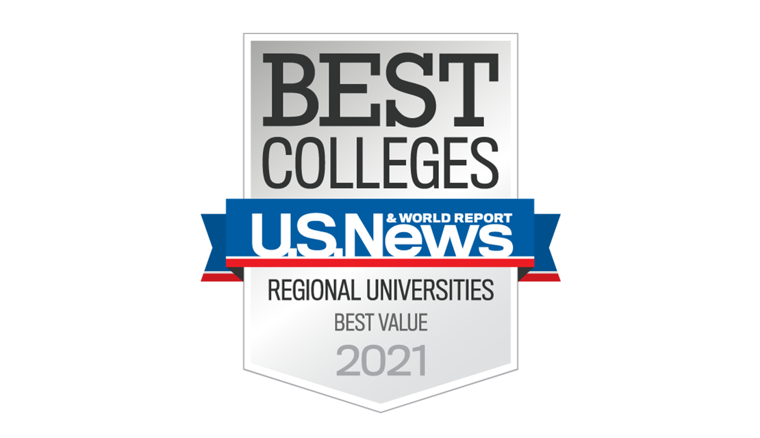 Badge for the U.S.News Regional Universities Best Value in 2021