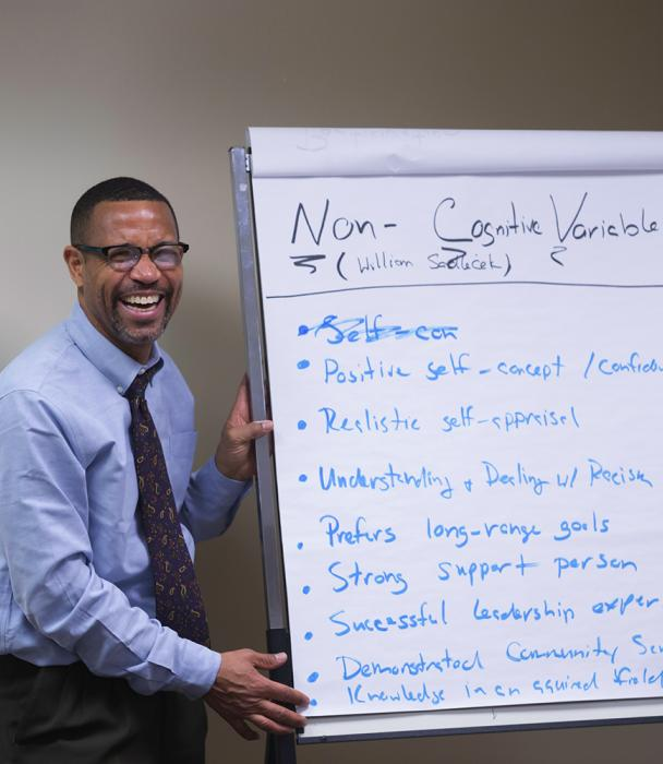 Springfield College Boston faculty Daryl Wright teaching human services
