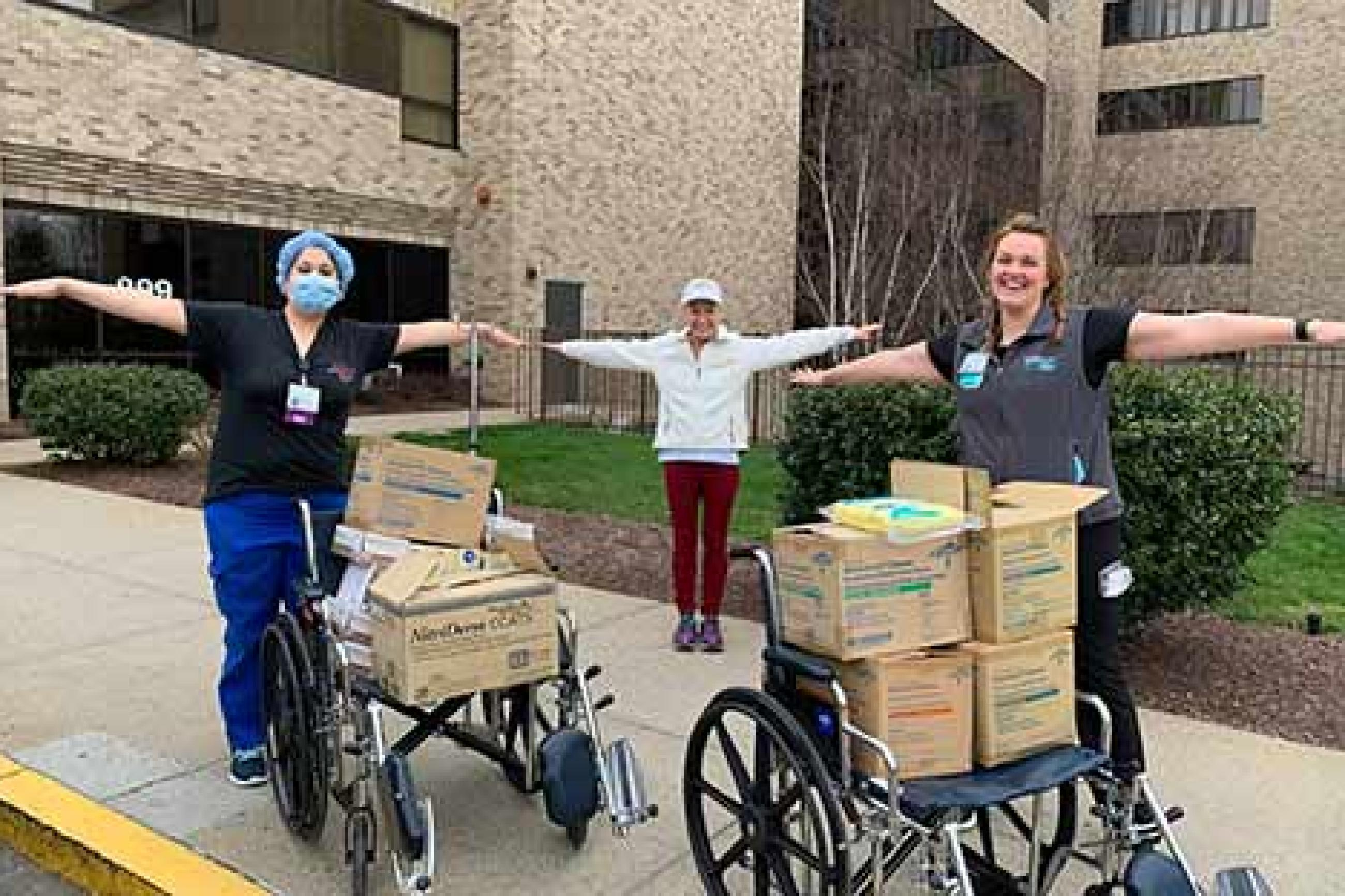 Springfield College Donates 50,000 Pairs of Gloves to Mercy Hospital