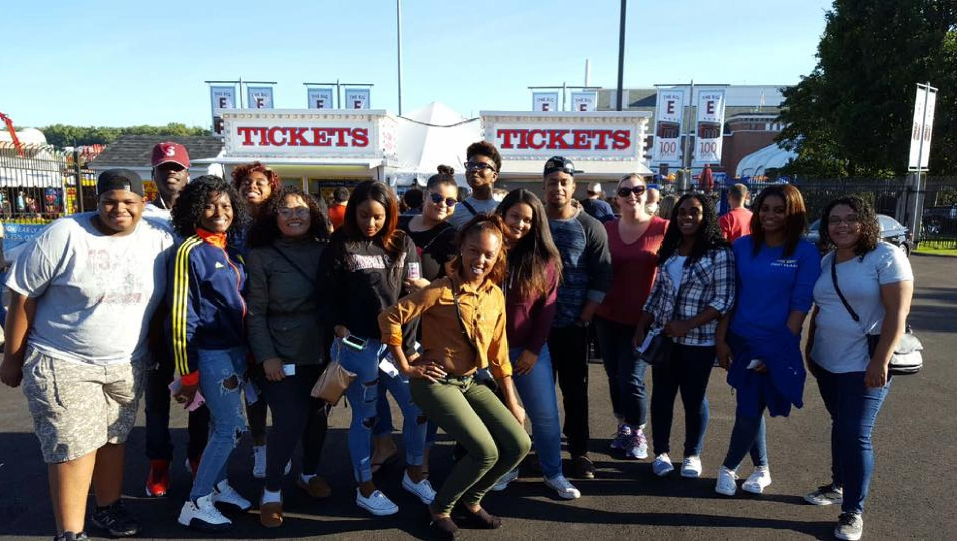 Springfield College students at the Big E