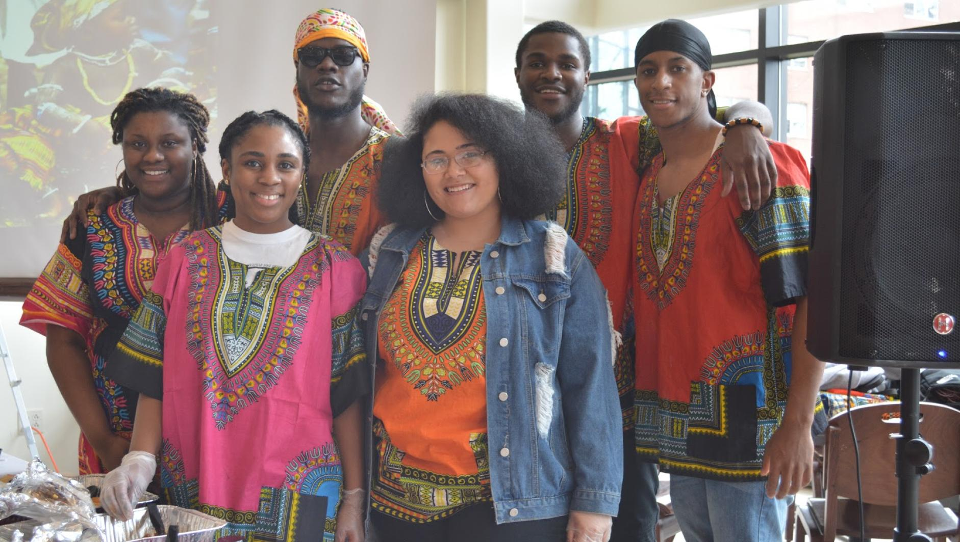 A group of students celebrate African Cultural Day
