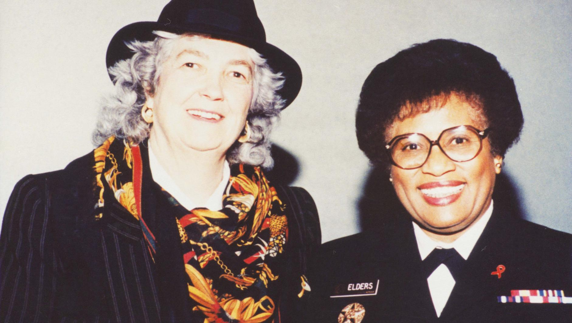 Mimi Murray with Joycelyn Elders, MD, Fifteenth Surgeon General of the United States