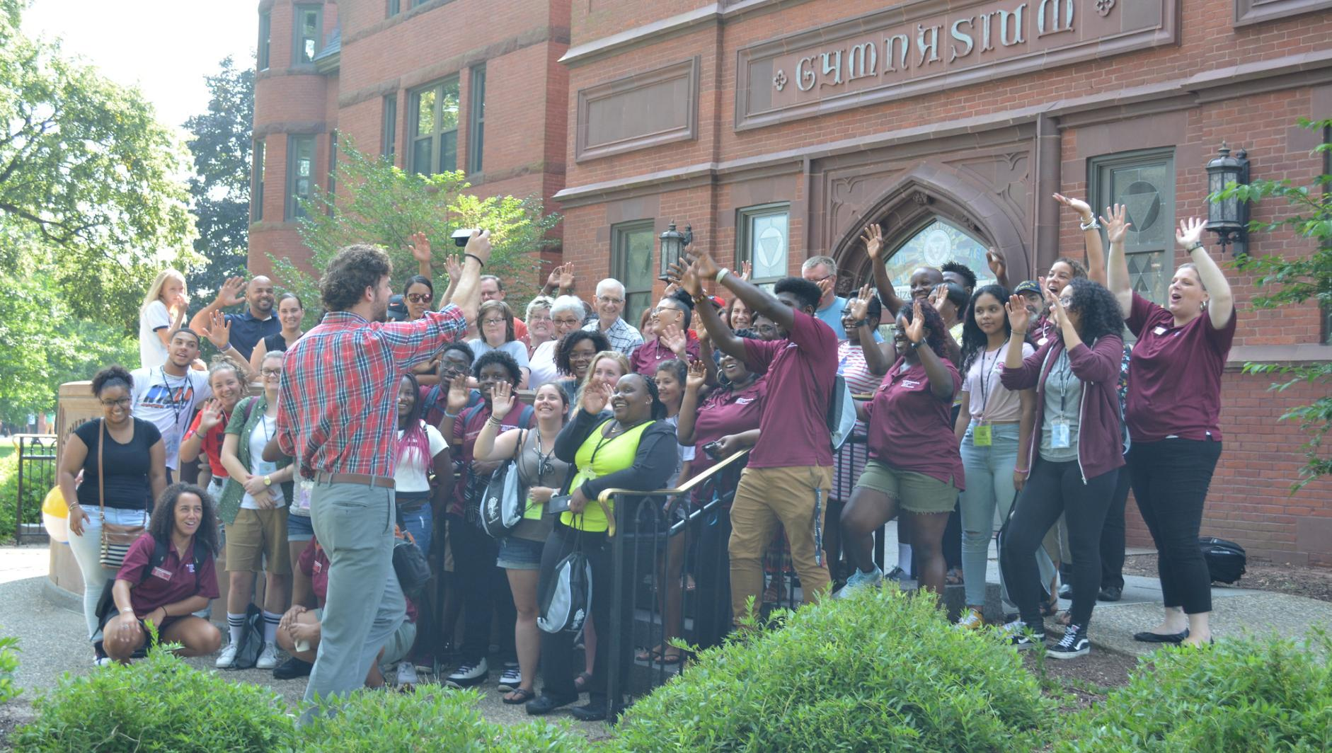 Cultural Connections group celebrates outside of Judd Gymnasium