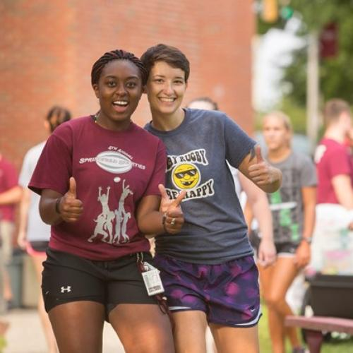 Students Having Fun at Springfield College