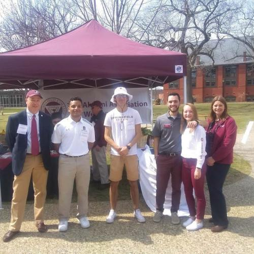 Members of the Springfield College team at Accepted Student Open House