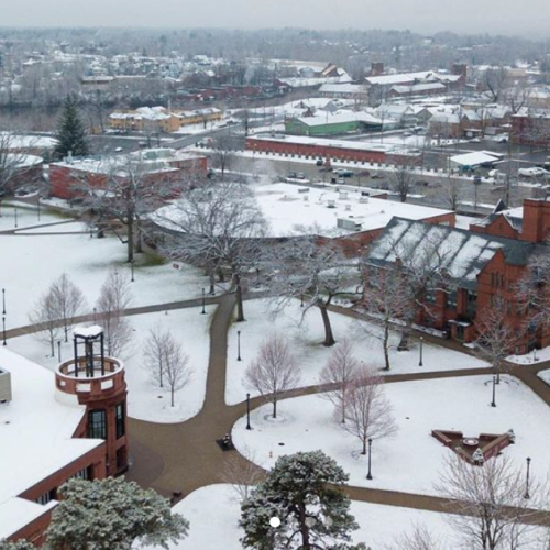 Snow day as seen from above