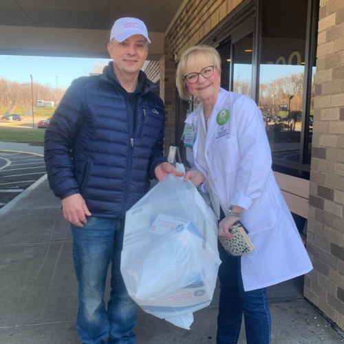 PA Professor drops off donations at local hospitals