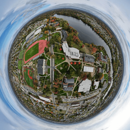 A world-eye view of the Springfield College campus