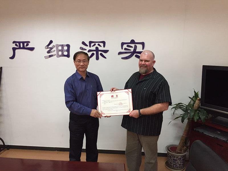 Director of Strength and Conditioning Brian Thompson receives his official appointment as an expert technical consultant to the Chinese National Fitness Trainers Association