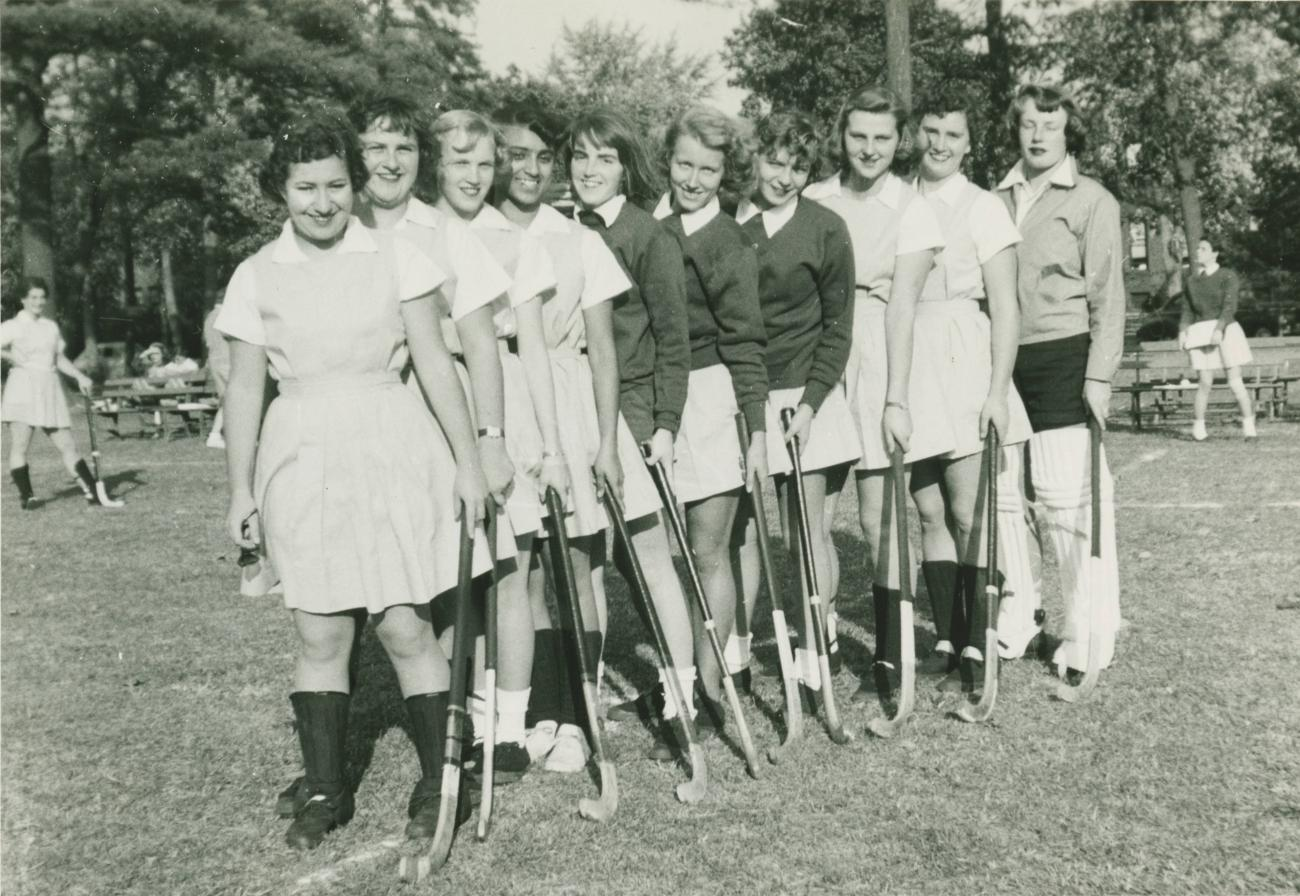 Early Springfield College Field Hockey Team