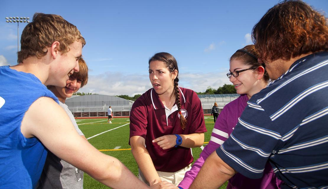 A student studies Physical Education at Springfield College