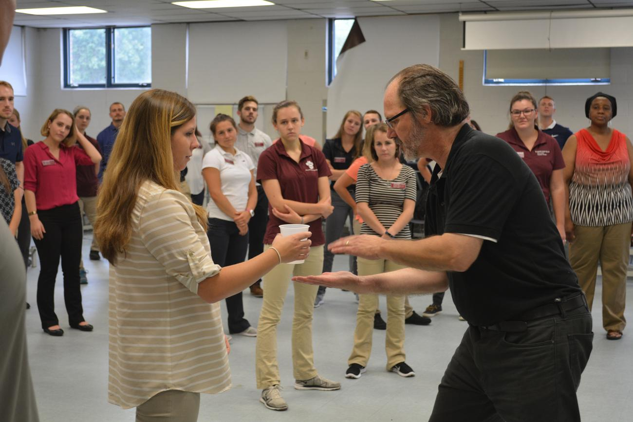 Department of Visual and Performing Arts Chair Martin Shell helps lead cross-disciplinary collaboration that focused on effective communication skills.