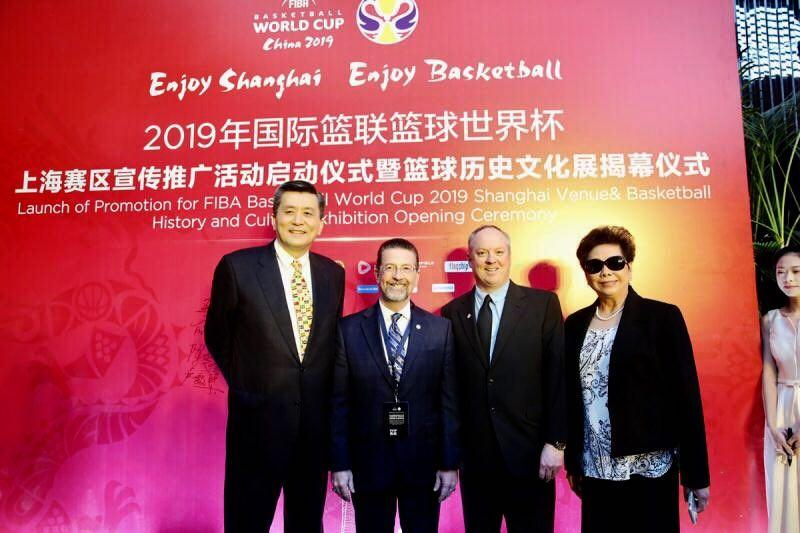 On the afternoon of April 17, Springfield College Vice President for Enrollment Management and Springfield College Assistant Director for the Doggett International Center Brian McGuinness took part in the launching ceremony of the 2019 FIBA ​​Basketball World Cup Shanghai competition and the unveiling of the history and culture exhibition of the Basketball World Cup displayed on the first floor of the Shanghai Center Building.