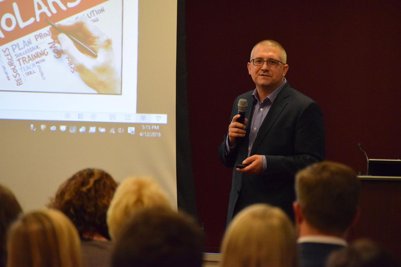 The Springfield College Department of Physical Therapy hosted the 22nd annual Greene Memorial Lecture featuring Steven Z. George, PT,PhD, on Thursday, April 12, in the Cleveland E. and Phyllis B. Dodge Room in the Flynn Campus Union.
