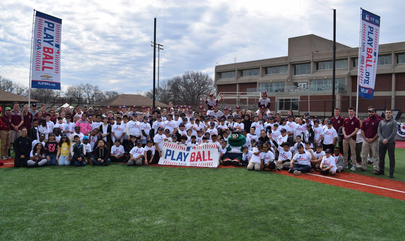 Springfield College, in conjunction with Major League Baseball, the Boston Red Sox Foundation, and the Cal Ripken, Sr. Foundation hosted a PLAY BALL Event for local youth on Friday, April 27, at Archie Allen Field.