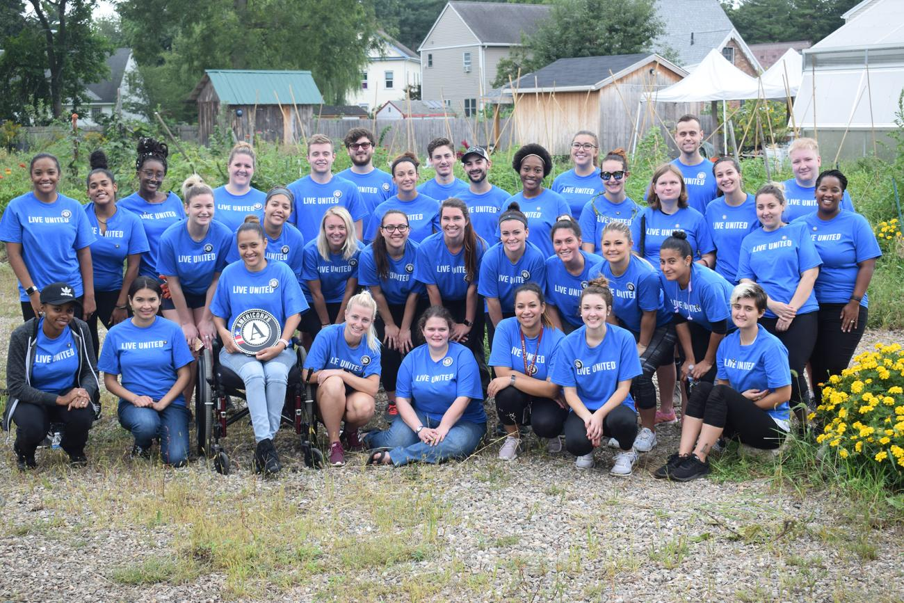The Springfield College AmeriCorps program recently took part in the United Way Day of Caring event on Friday, Sept. 14, assisting with community service projects at the Community Garden location at 200 Walnut St. in Springfield.