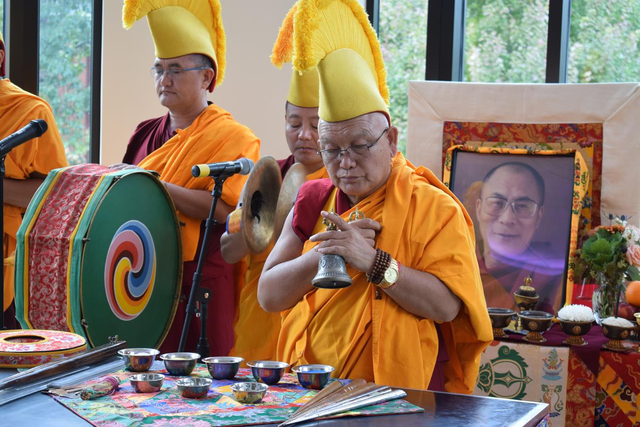 Tibetan Buddhist monks from Drepung Loseling Monastery will construct a Mandala Sand Painting from Monday, Oct. 22 to Friday, Oct 26 at Springfield College in Springfield, Mass.