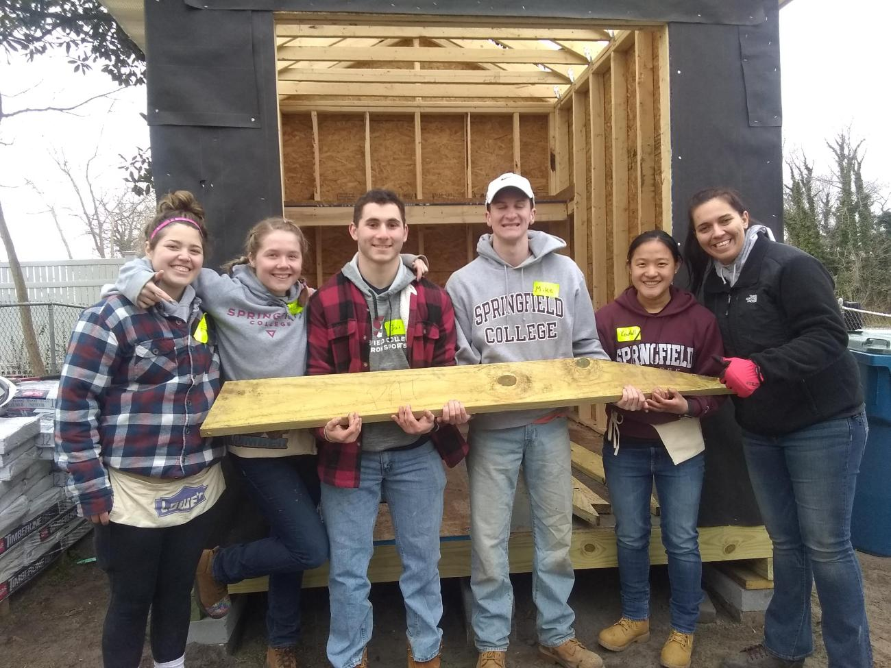 Working with Habitat for Humanity, participants will travel to Salem County, New Jersey, and spend five days working on a Collegiate Challenge build project and assist with the renovation and construction of affordable housing options for low-income families.
