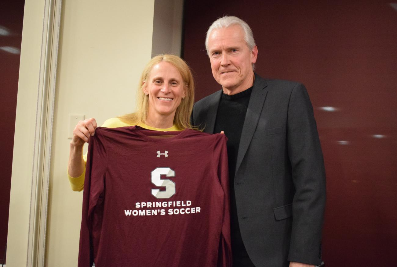 The Springfield College School of Health, Physical Education, and Recreation welcomes U.S. women's soccer legend Kristine Lilly