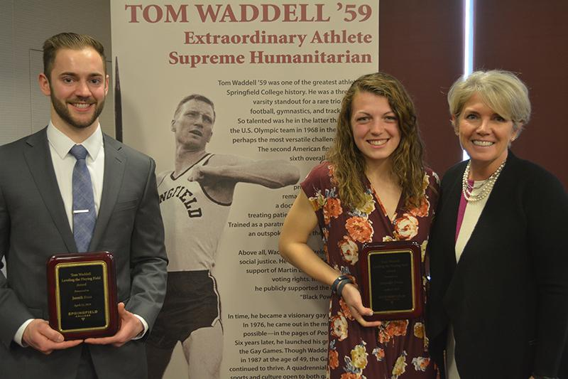 Following Murray's presentation will be the announcement of the 2019 student-athlete recipient of the annual Tom Waddell Leveling the Playing Field Award recipients, Jannik Haas and Emmalie Drake.