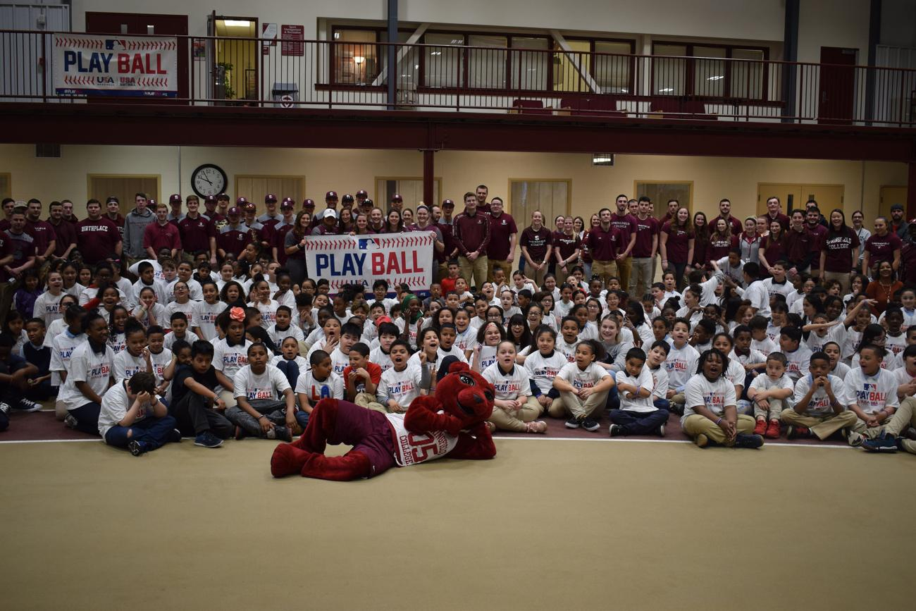 Springfield College, in conjunction with the Boston Red Sox Foundation, and Major League Baseball, hosted its second annual PLAY BALL Event for local youth on Friday, April 26, in the Springfield College Field House.