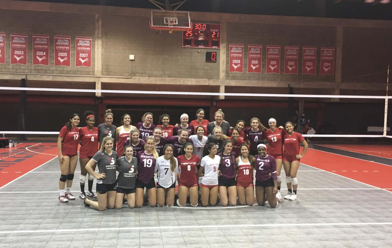 During spring break, the women's volleyball team traveled to Puerto Rico for a week of competition, community, and connection