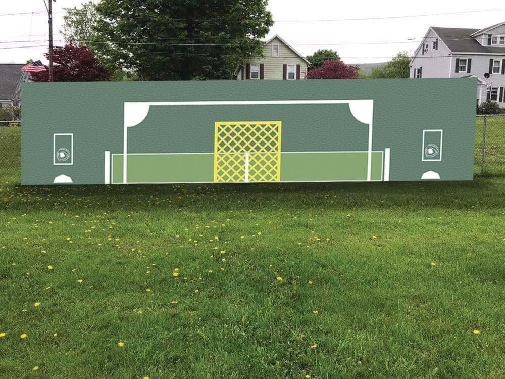 A multi-sport practice wall designed 