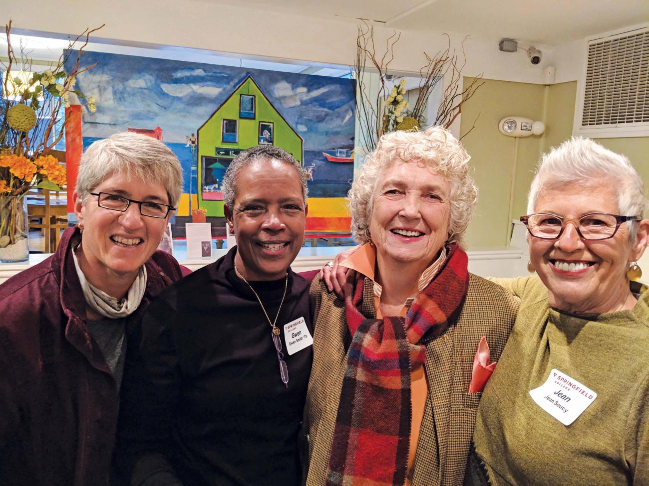 Murray at the Greenery Café owned by Amy Hale '85 in Ogunquit, Maine, 