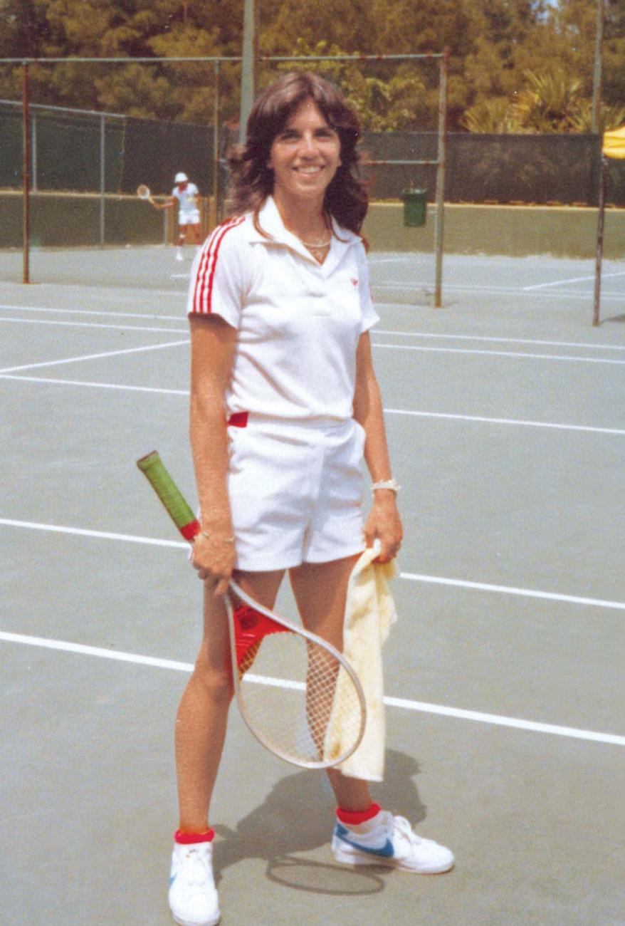 MJDS as a teenager in Bermuda on the tennis court.