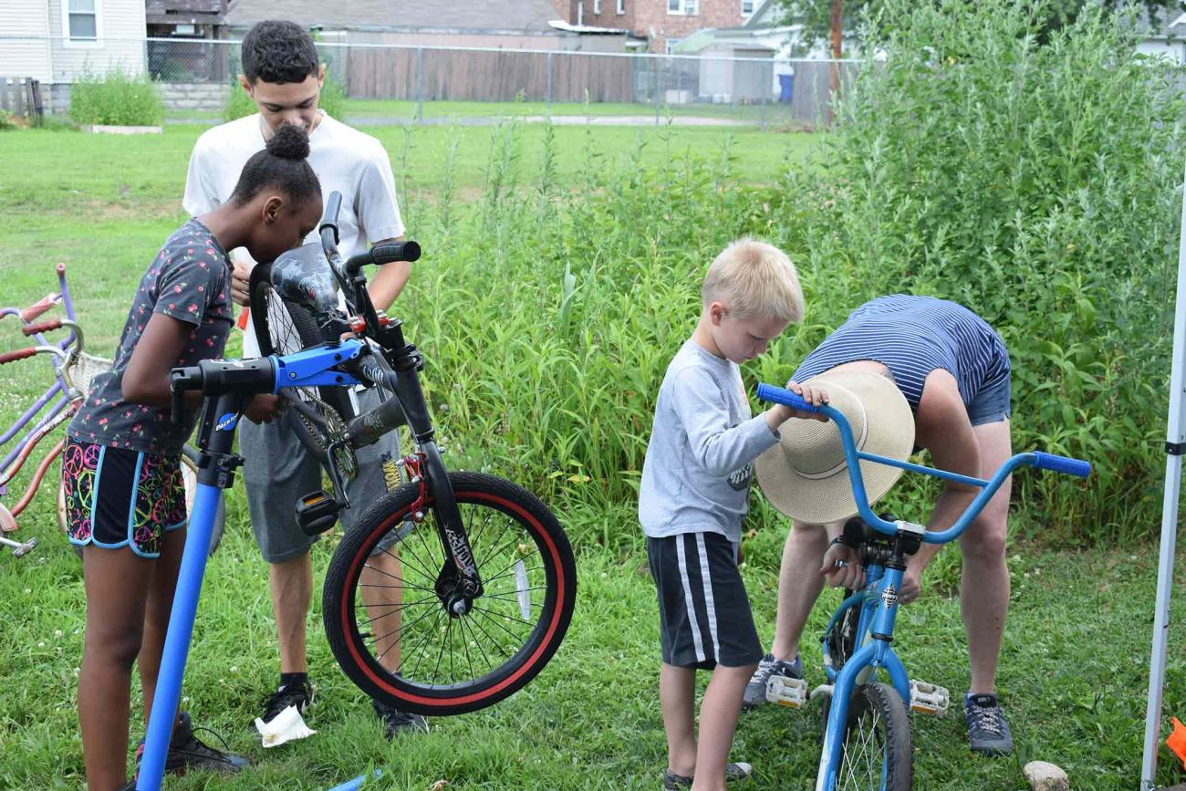 The Earn-A-Bike program is another example of the Humanics philosophy at the College, a commitment to leadership and service to others.