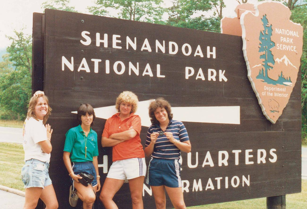 Emily Huntington, from left, De Souza, Joan Quinlan, 