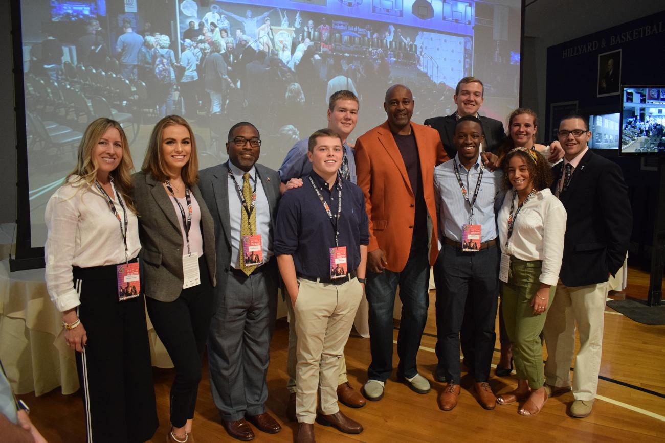 Springfield College Communications/Sports Journalism students had the opportunity to attend the Naismith Memorial Basketball Hall of Fame Class of 2019 Press Conference on Thursday, Sept. 5.
