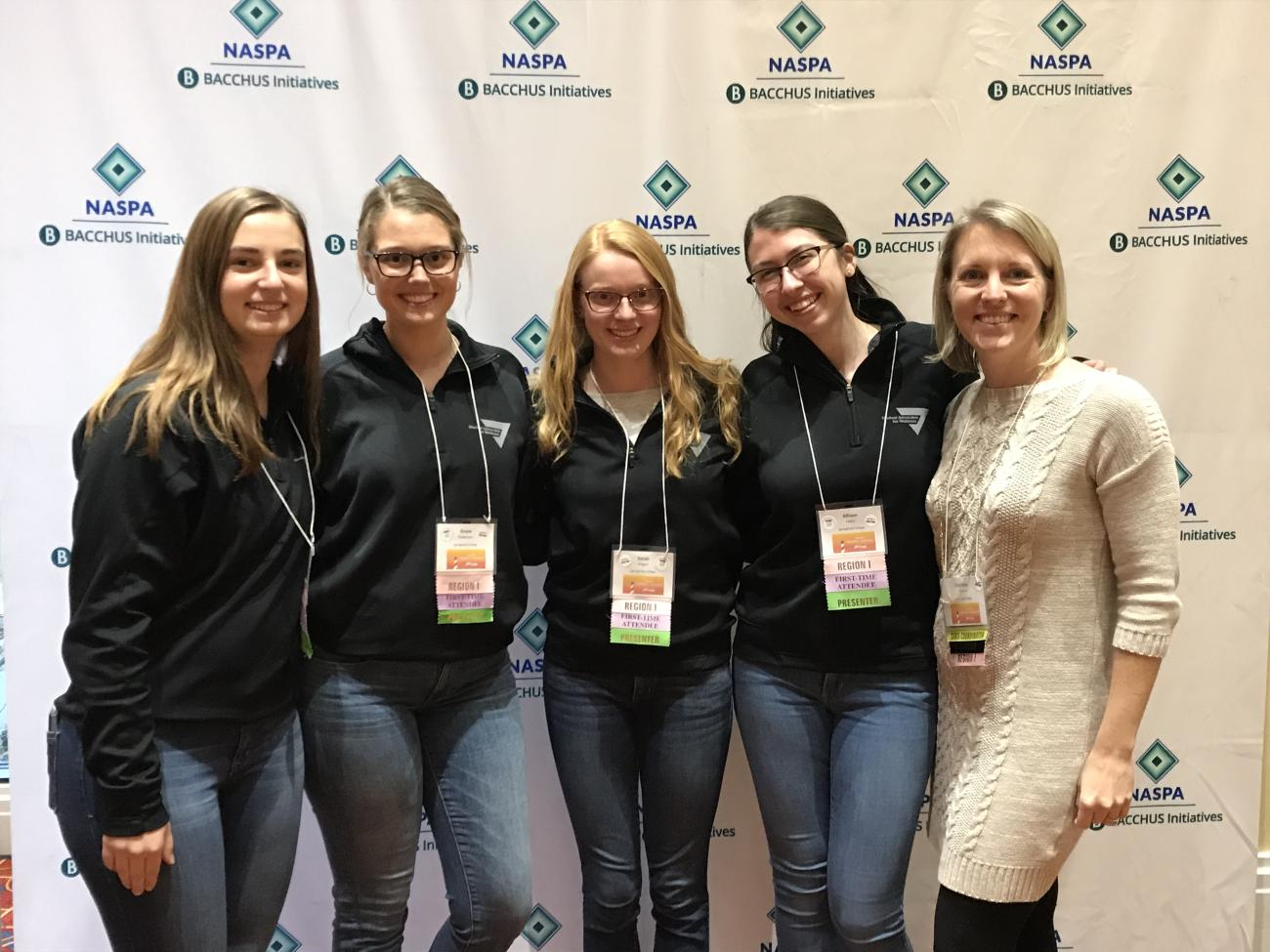 Students from the Springfield College Student Advocates for Wellness recently presented information on the health risks of vaping at the National Association of Student Personnel Administrator (NASPA) General Assembly in Baltimore, Md.