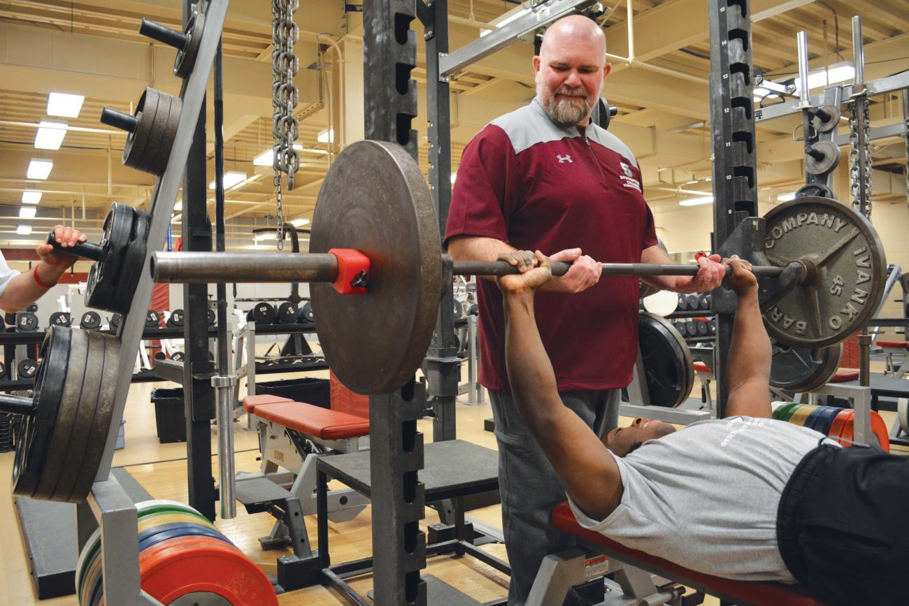 Brian Thompson, PhD, director of strength and conditioning
