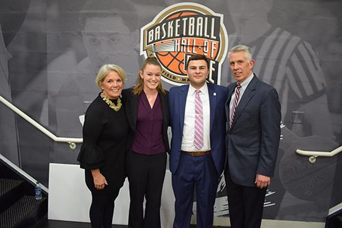 Springfield College and the Naismith Memorial Basketball Hall of Fame presented the eighth annual Naismith Memorial Basketball Hall of Fame Scholarship to Springfield College sport management students Jeremy Therrien and Abigail Wylie. The formal presentation was made during the 2020 Spalding Hoophall Classic at Blake Arena.