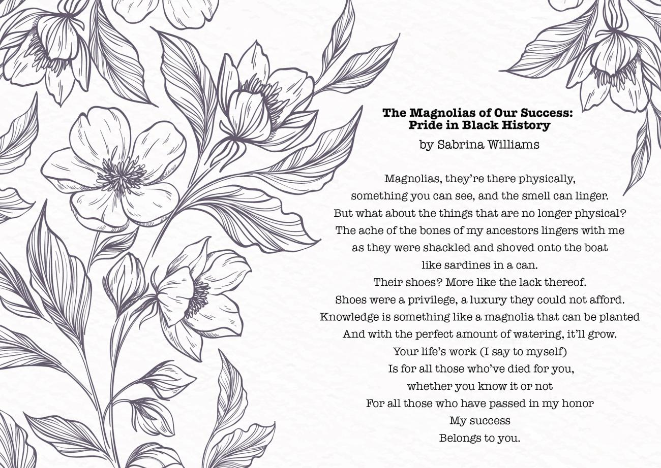 Magnolia poem by Sabrina Williams