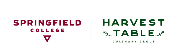 harvest table and springfield college logo