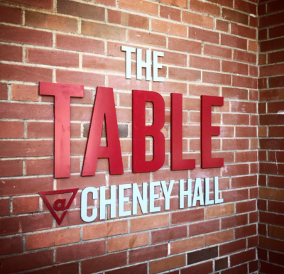 Table @ Cheney sign