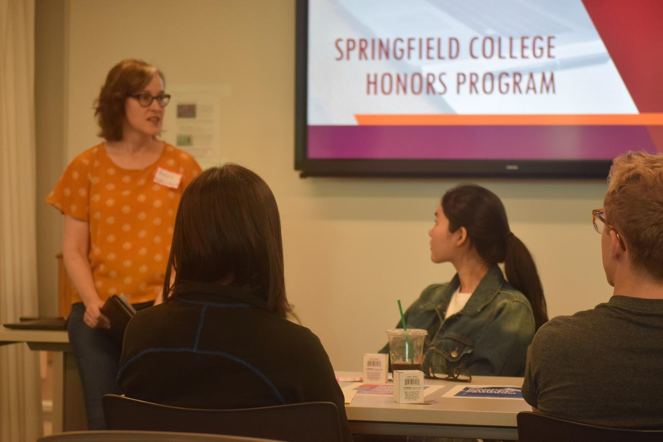 The Springfield College Honors Program has a full schedule of events planned for the 2020 fall semester. Led by Honors Program Director Rebecca Lartigue, the Honors Program begins its second year and includes learning about many subjects, learning beyond the classroom, and encourages students to take responsibility for their learning.