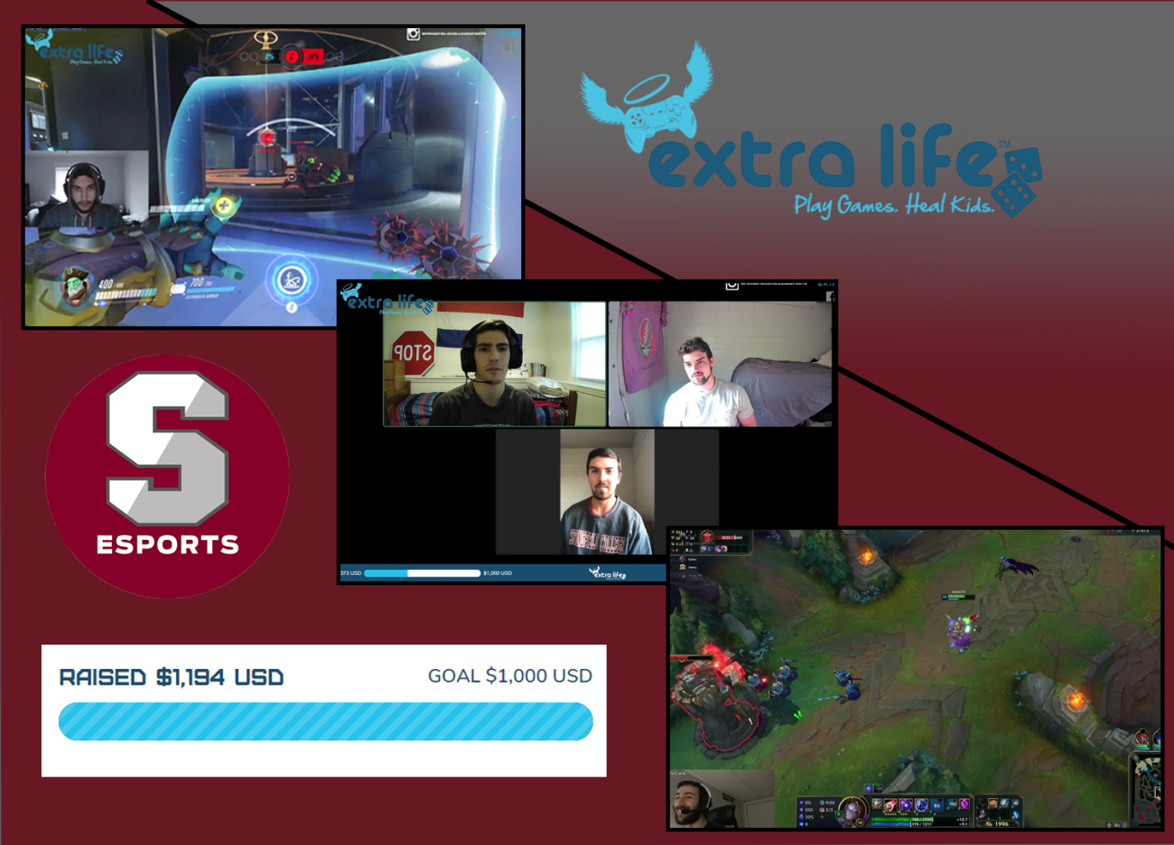 The Springfield College Esports student-led club recently participated in the Extra Life Gaming Challenge benefitting the Baystate Health Foundation and the Baystate Children's Hospital.
